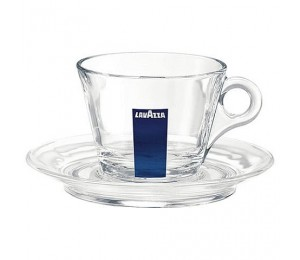 TAZZA CAPPUCCINO VETRO BLU COLLECTION COD.20002004
