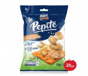 Pepite Cacio e Pepe Espositore 35 g x 20 pz Aperisnack